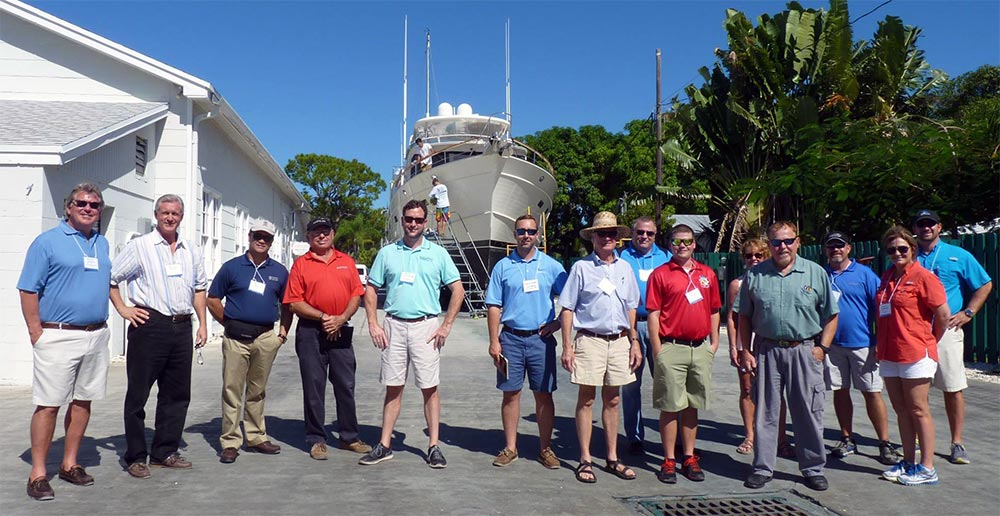 The Southeast Florida Marina and Boatyard Study Tours pays visit to the boatyard – Nov. 3rd 2015