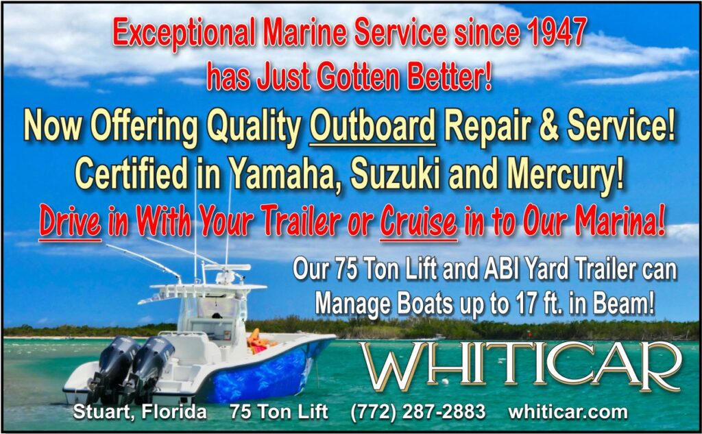 Whiticar now offering Outboard Repair & Service